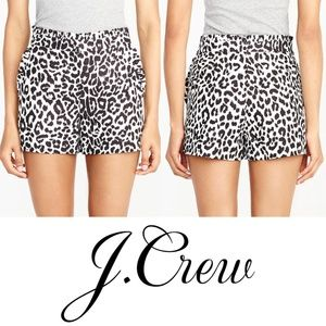 J. Crew Printed Ruffle Hem Shorts Animal Print 4